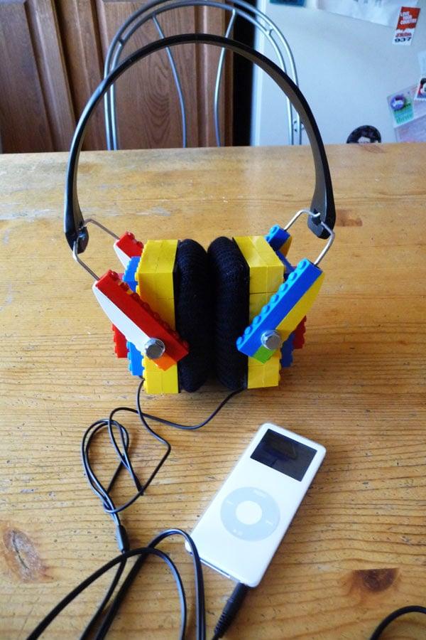 diy lego headphones