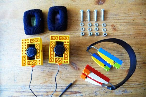 diy headphones lego