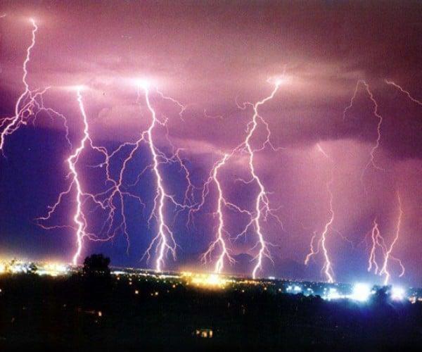 Slow Motion Lightning Strikes: Shocking.