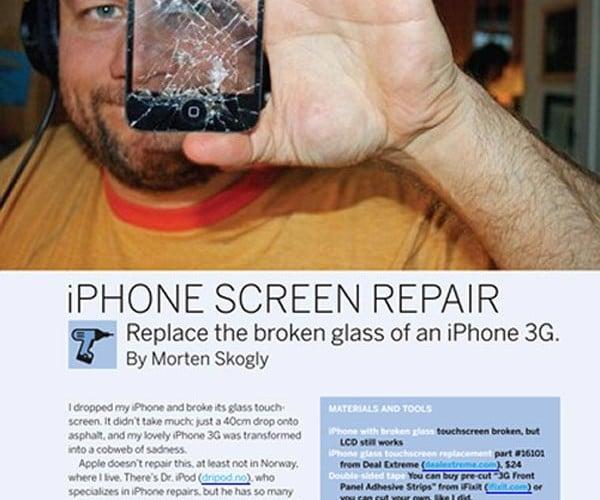 Broken iPhone 3g Screen? Check Out This DIY Repair