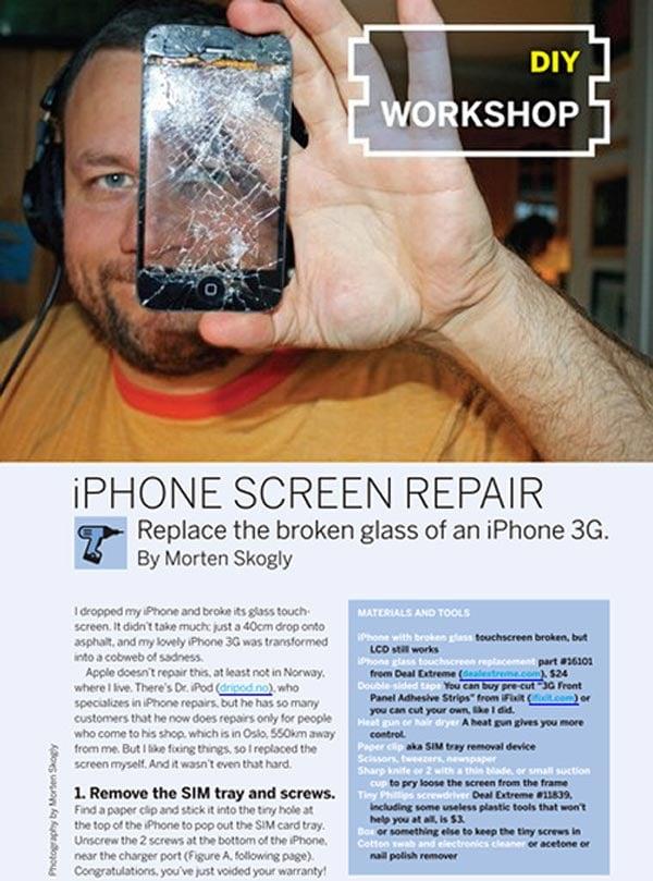 diy iphone screen repair make