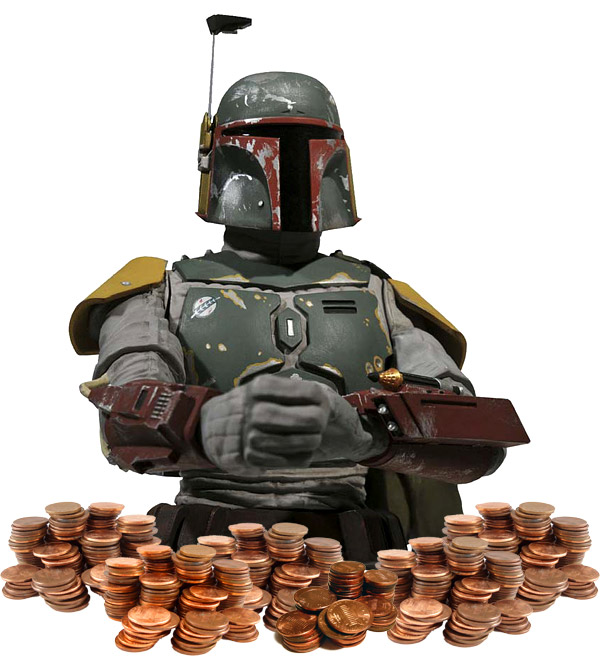 boba fett piggy bank