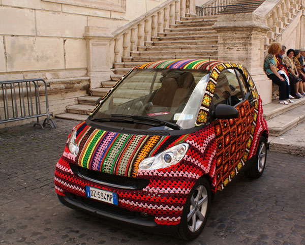 Someone Has Spent A Ton Of Time Lovingly Crafting Crochet Car Cover For Their Smart My Grandmother Would Be Duly Impressed Were She Still Around