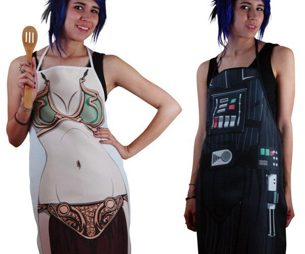 Darth Vader and Princess Leia Aprons: Force Cookin'