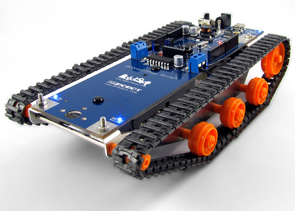 Dfrobotshop rover programmable tank robot on a budget