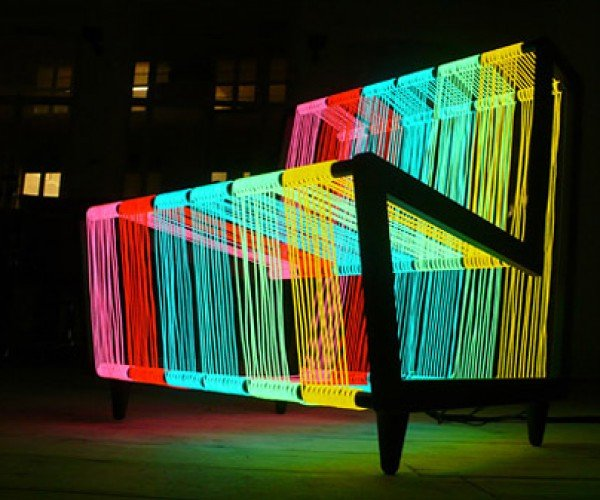 Disco Chair Shows Off Its Electroluminescent Powers