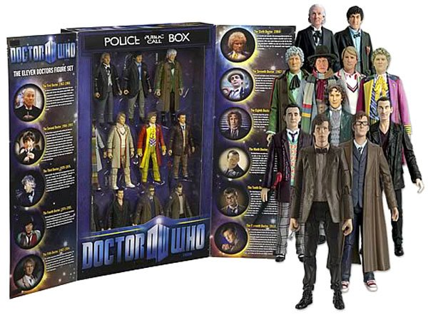 doctor who eleven doctors action figures