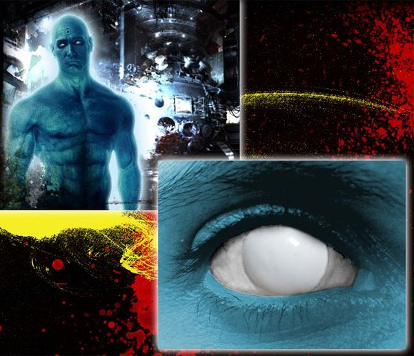 dr manhattan white contact lenses