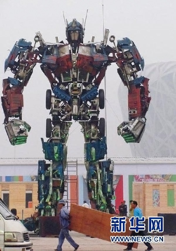 giant optimus prime beijing