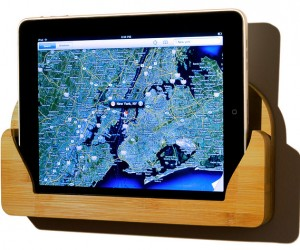 Bamboo iPad Wall Mount: Green, Renewable and Useful