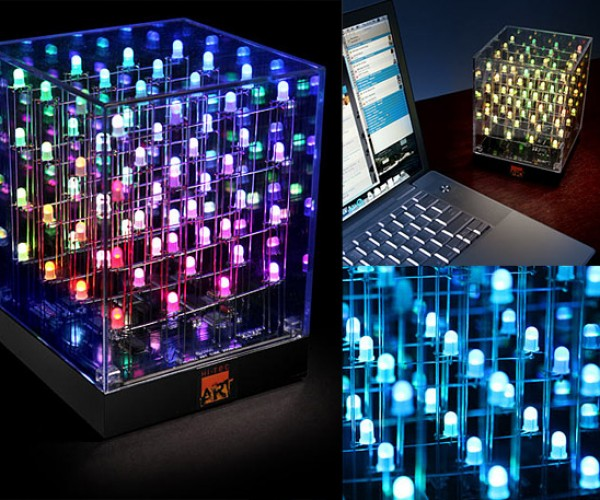 LED Art Cube Lights Up Your Desk With Color