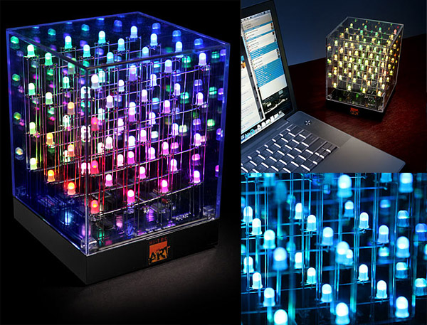 led art cube rgb light