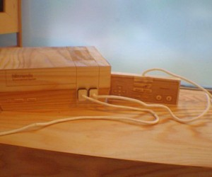 NES Wooden Sculpture: Video Game Console as Art