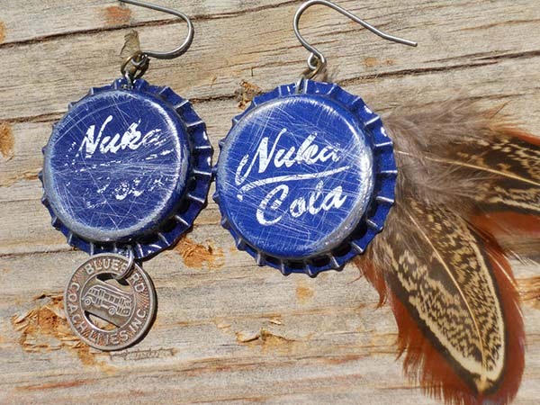 nuka cola quantum earrings