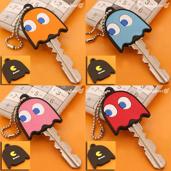 pac man ghost key caps