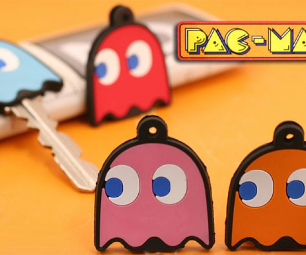 Pac-Man Ghost Key Covers Help You Remember Which Key Unlocks the Next Maze