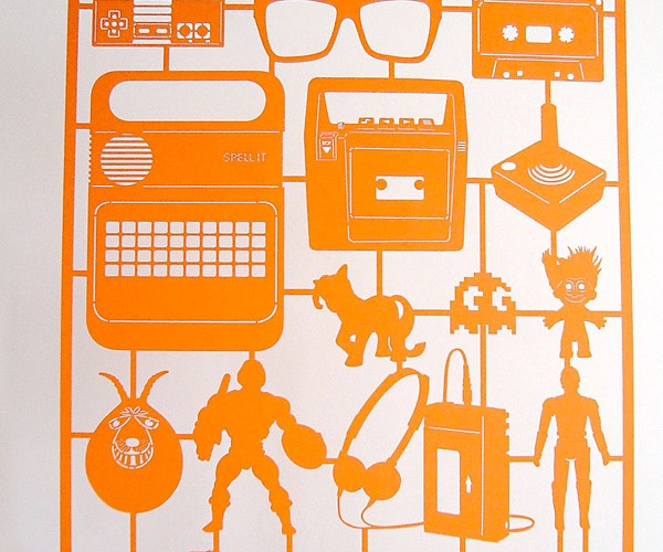 Laser Cut Retro Art Brings Back Fond Childhood Memories