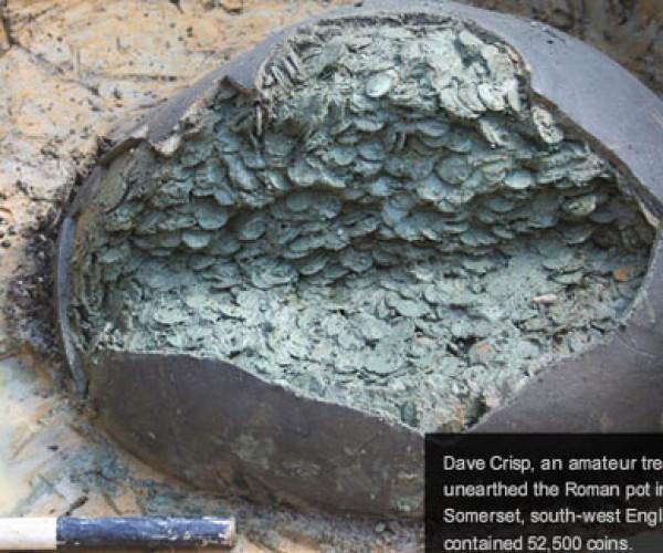 Metal Detector Wielding Brit Finds $1-Million in Roman Coins