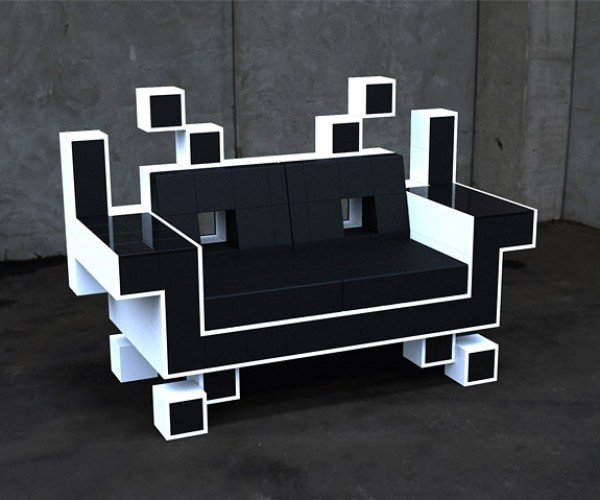 Space Invaders Love Seat Invades Our Bottoms