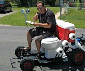 Toilet Go-Kart: Outboard Outhouse