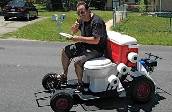 Toilet Go Kart Outboard Outhouse Technabob