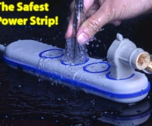 Wet Circuits: the Safest Power Strip, as Seen on Youtube!