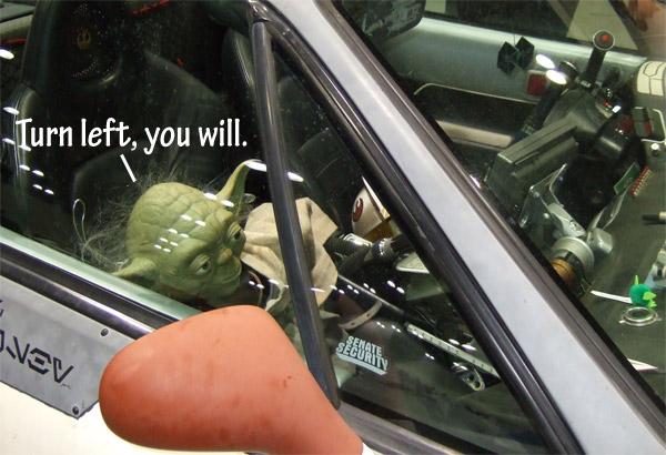 yoda passenger in car