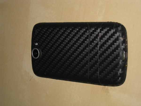 diy carbon fiber skin nexus one cell phone