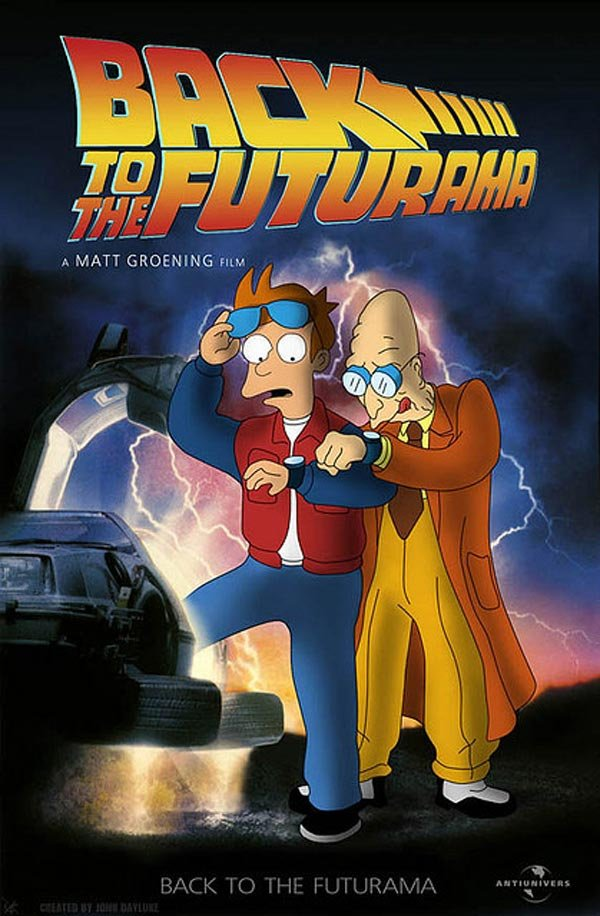 back to the future futurama poster fan john dayluke