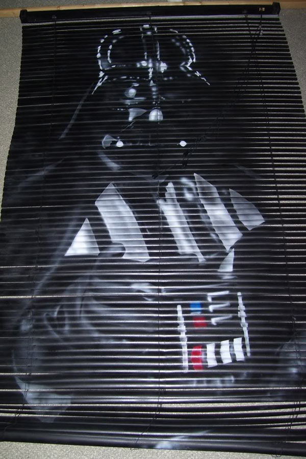 blinded by the force darth vader venetian blinds star wars