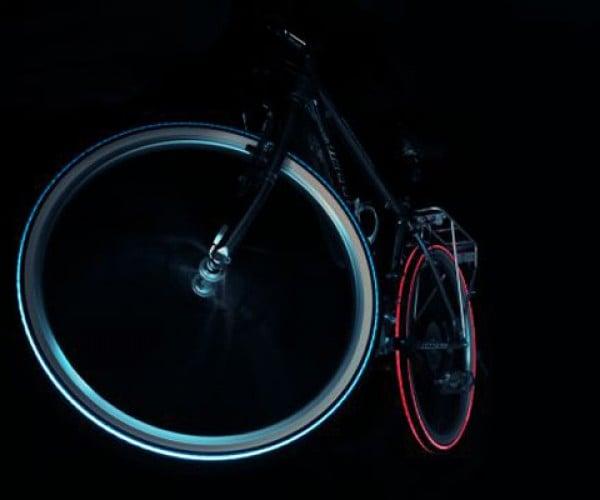 Cyglo LED Bike Tires Will Keep You Safe-Ish While Biking at Night