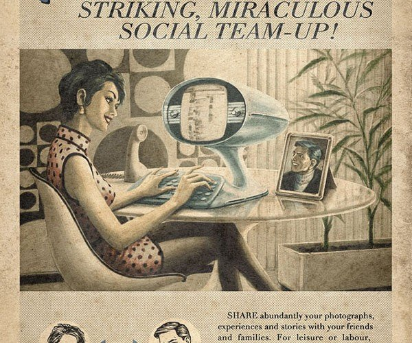 Vintage Facebook, Skype, and Youtube Posters