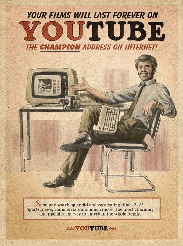 Vintage Facebook Skype And Youtube Posters
