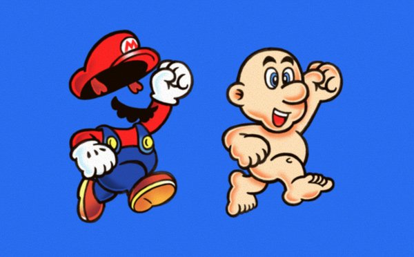 super mario naked mad nintendo gaming