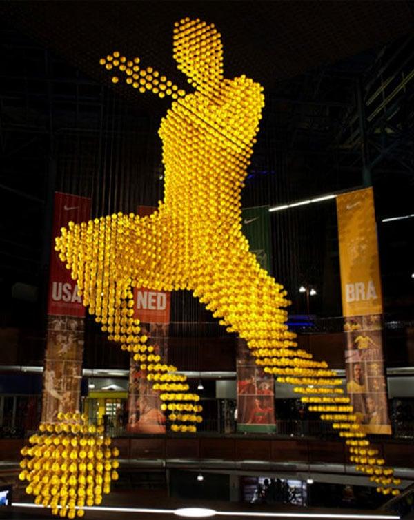 south africa balls soccer sculpture johannesburg nike carlos tevez