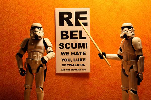 rebel scum stefan le du stormtroopers star wars wallpaper