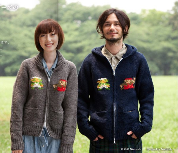 super mario nintendo sweater cardigan japan