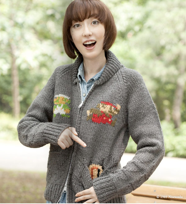 super mario nintendo sweater cardigan japan