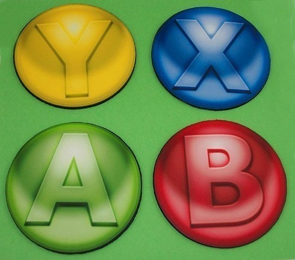 abxy xbox 360 video game coasters