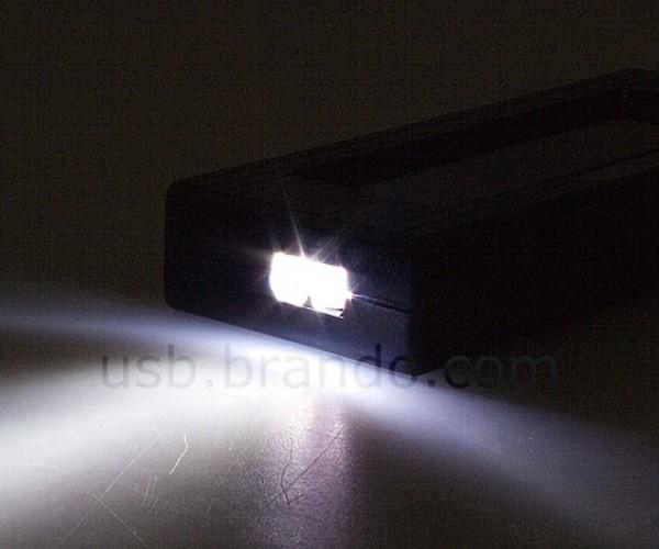 brando usb hub solar charger flashlight 3