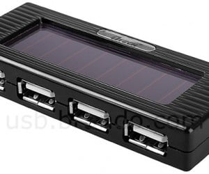 Solar-Powered USB Charging Hub With Flashlight: the Gadget Geek'S Swiss Army Knife