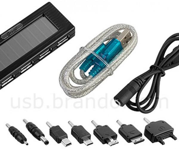brando usb hub solar charger flashlight 4