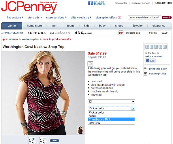 Jcpenney Now Catering to Wookies