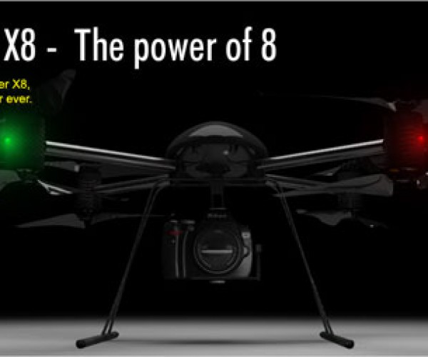 Draganflyer X8 has 8 Rotors and Makes the Ar.Drone Look Like the Toy It is