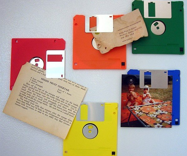 Floppy Disk Fridge Magnets: Ironic, Ain'T They?