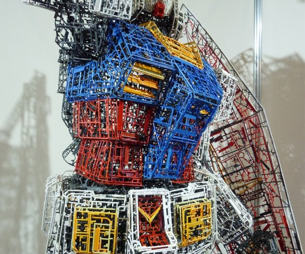 10-Foot Gundam Made From Leftover Model Part Trees
