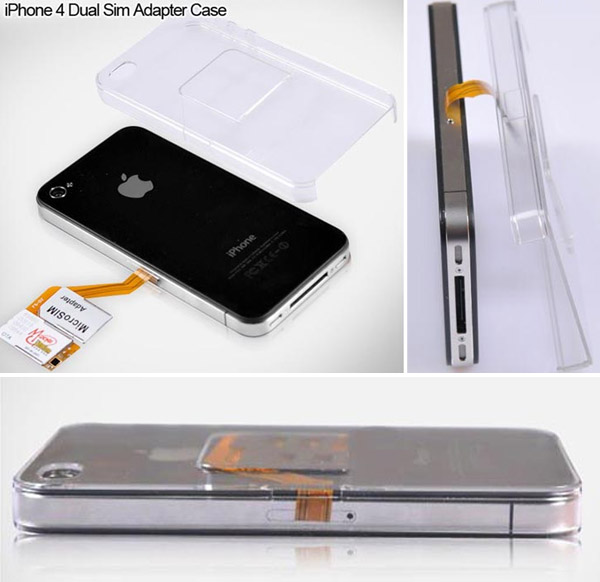iphone 4 dual sim adapter