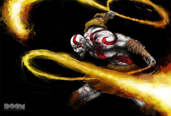kratos_doom_cmyk_painting