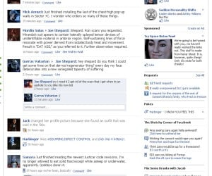Facebook in the Mass Effect Universe: as Annoying as the One in Ours