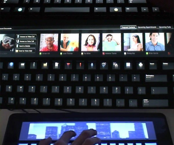 Microsoft Adaptive Keyboard Concept Places Images on Your Keyboard